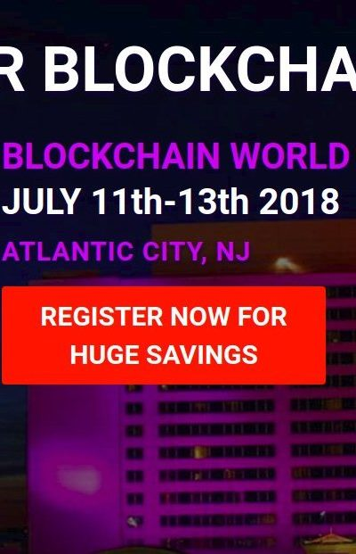 Blockchain World Conference 2018 In Atlantic City