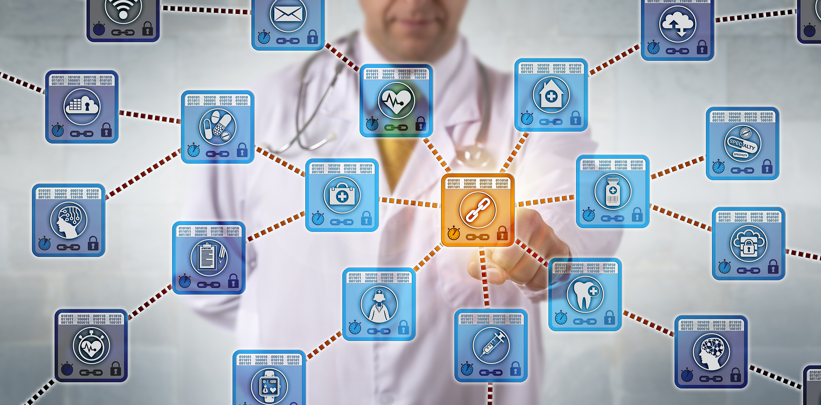 Unrecognizable Physician Is Activating A Healthcare Blockchain A